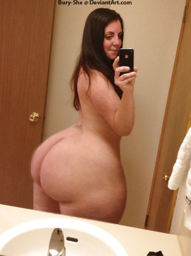 Butt ass naked big booty bbw shower