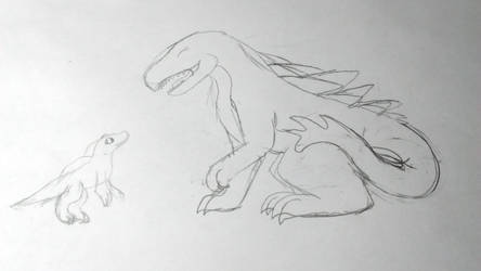 Storytelling Kaiju Spinosaurus by LeopardStrike2