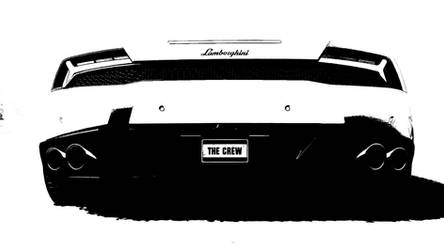 Black And White Lambo