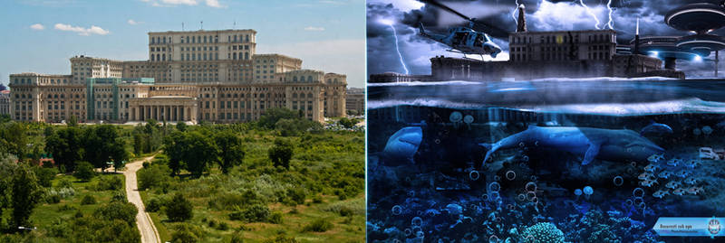 Bucharest underwater Photomanipulation