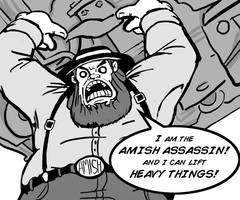 Day 16 The Amish Assassin by MechaDaveO