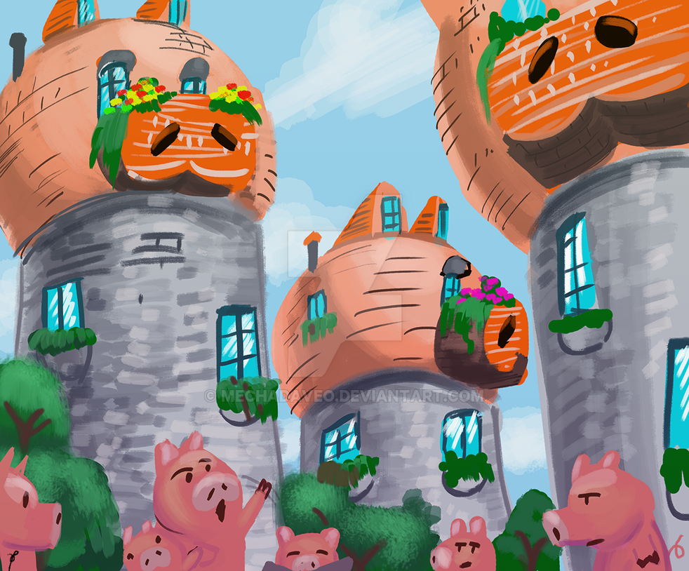 Pig Village by MechaDaveO