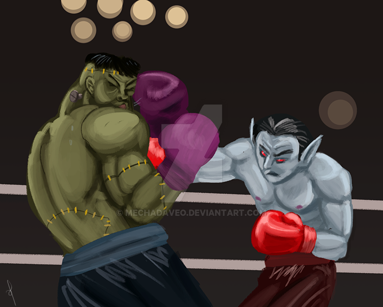 Dracula Fight Night by MechaDaveO