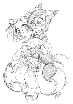 Sammy + Tails - Hug!