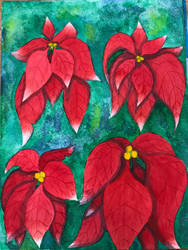 Poinsettia Watercolor 2 by MegnRox15