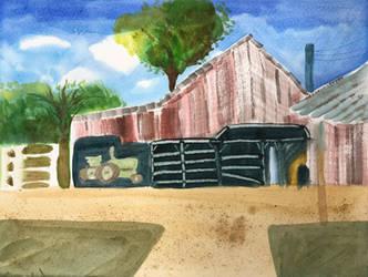Watercolor Barn by MegnRox15