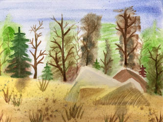 Watercolor Nature Painting by MegnRox15