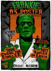 Frankenstein .PSD HALLOWEEN POSTER Download A3 by TheAlikA