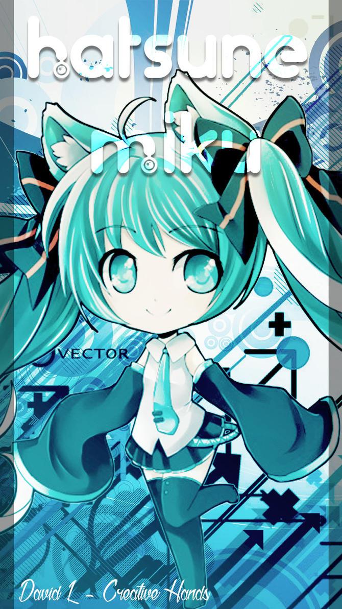 Wallpaper Android - Hatsune Miku Chibi by DavidL ... Hatsune Miku Chibi Wallpaper
