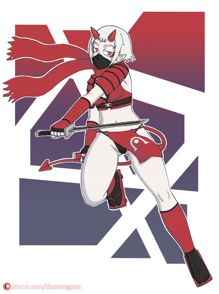 Hisako Demon Ninja by DemonGuyX