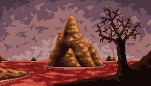 Pixel art Sea of blood