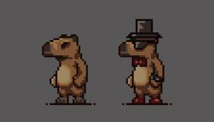 Pixel art Stylish capybara
