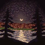 Pixel art Night sky