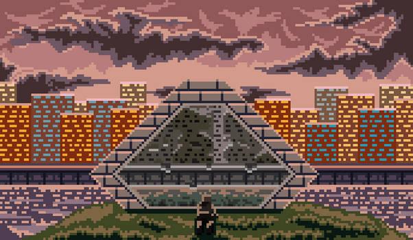 Pixel art An unfortunate future