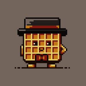 Pixel art Mr. Waffle