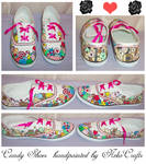 Candy hand painted shoes