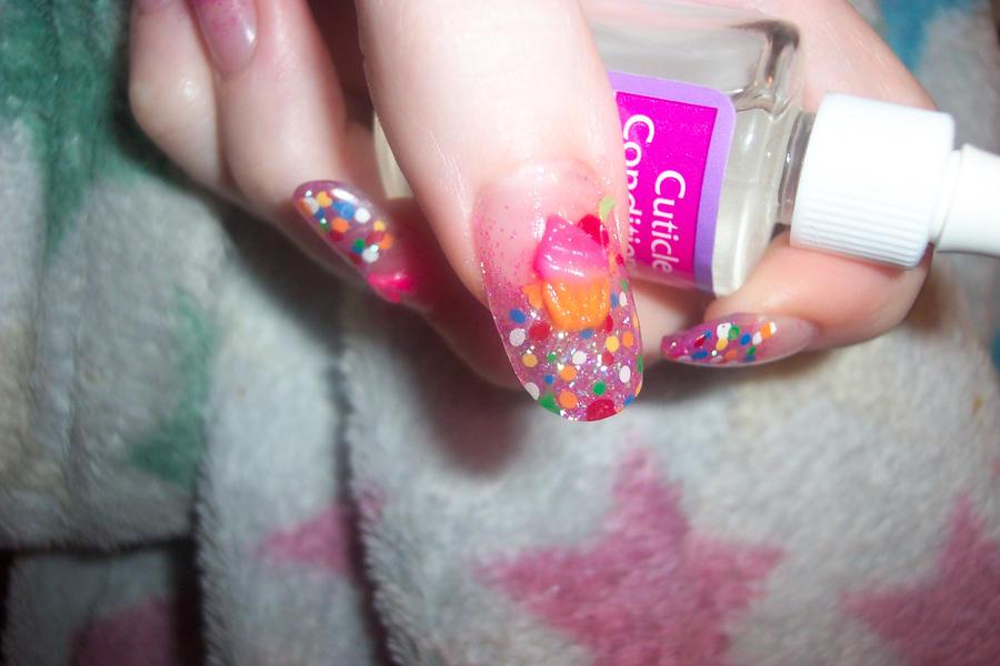 3d cupcake nail art