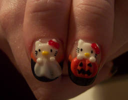 a happy hello kitty halloween by neko-crafts