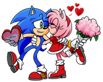 Sonic Valentines - Sonic and Amy