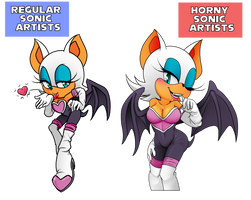 Sonic Artist Meme with Rouge the Bat