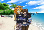 Callous and Johnny at the beach