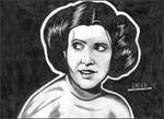Carrie Fisher as Princess Leia!