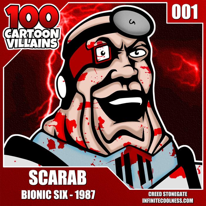 100 Cartoon Villains - 001 - Scarab! by CreedStonegate