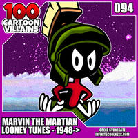 100 Cartoon Villains - 094 - Marvin The Martian!