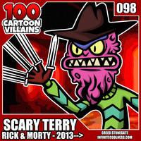100 Cartoon Villains - 098 - Scary Terry!