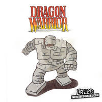 A Stoneman approaches! Dragon Warrior on the NES!