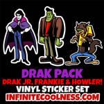 Drak Pack- Drak Jr Frankie and Howler Sticker Set!