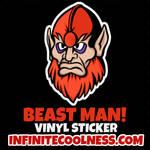 Beast Man Retro Cartoon Sticker!
