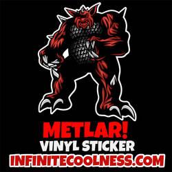 Metlar from Inhumanoids Retro Cartoon Sticker!
