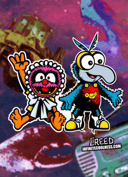 Animal And Gonzo from Muppet Babies!