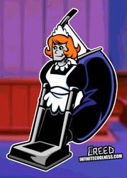 Richie Rich's robot maid Irona vacuuming!