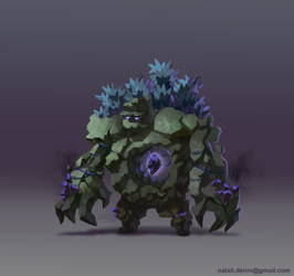 Infected golem by Alisthecat