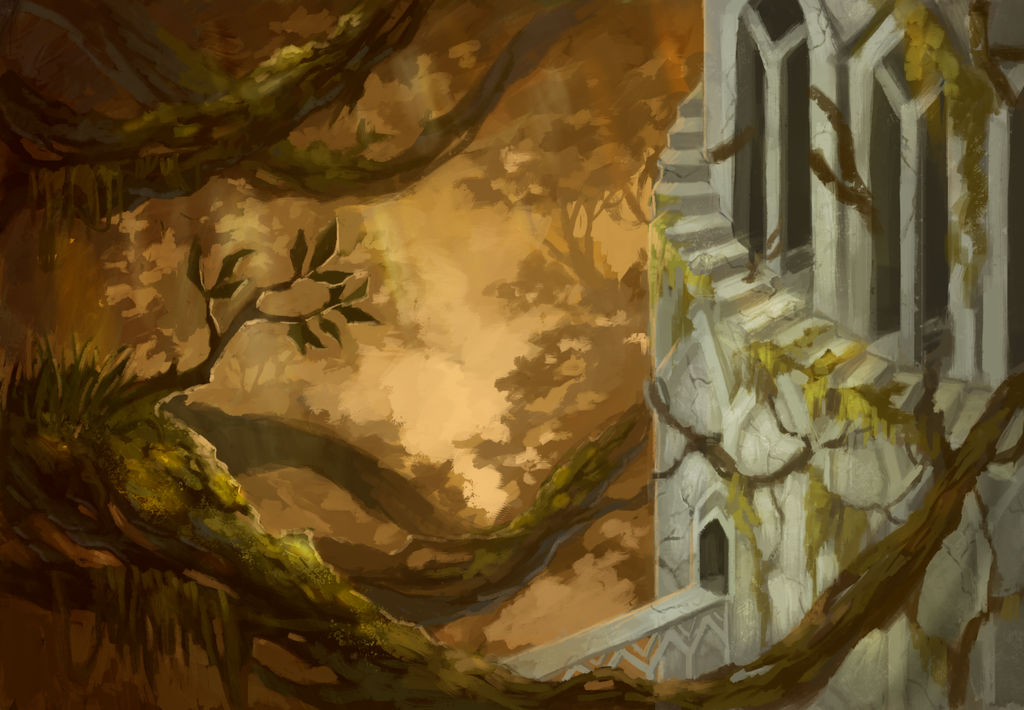 Library of Dawn forest by Alisthecat
