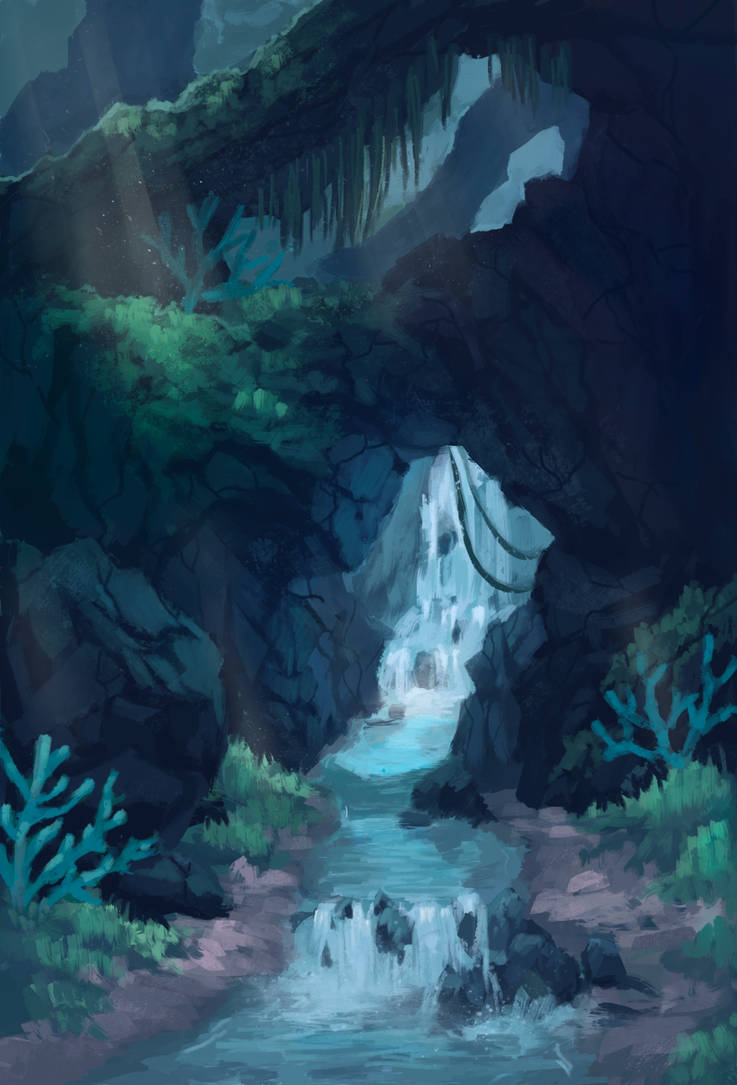 Secret waterfall by Alisthecat