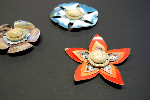 Postcard Brooches