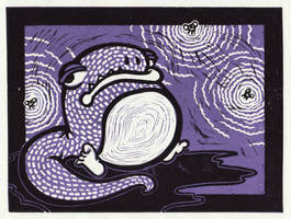 Frog and Flies by whitneybroadaway