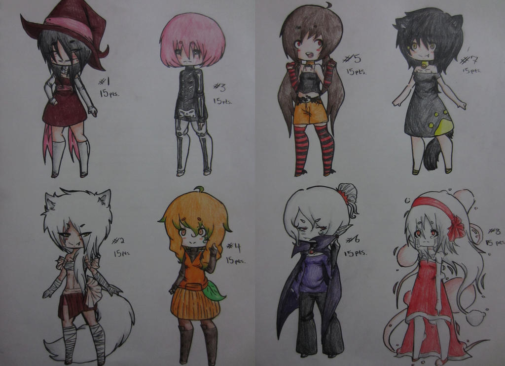 Halloween Adoptables CLOSED by AnimeBoyCrazy4