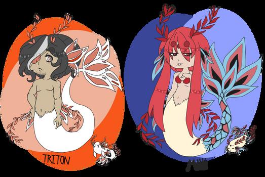 Aquaflora MYO ((TRITON and MILLI)) by AnimeBoyCrazy4