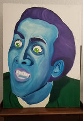 Nic Cage in Blue
