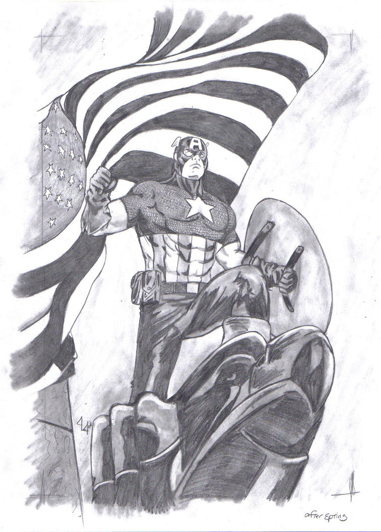 Steven Rogers-Captain America by Jason-Lee-Johnson