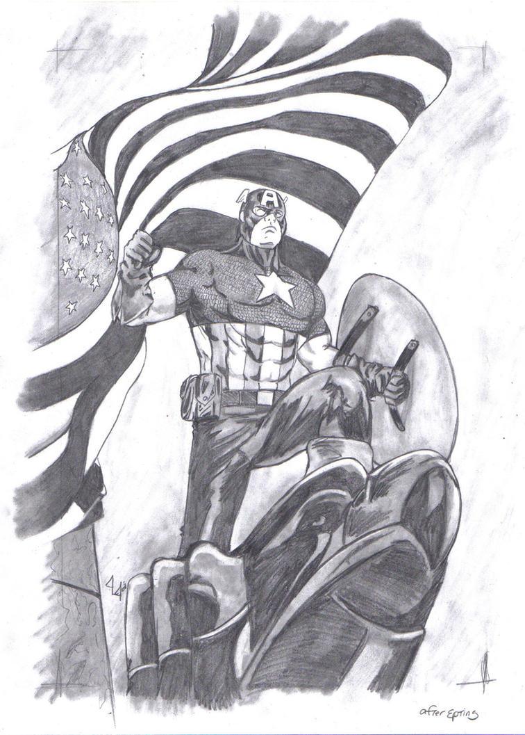 Steven Rogers-Captain America by Jason-Lee-Johnson