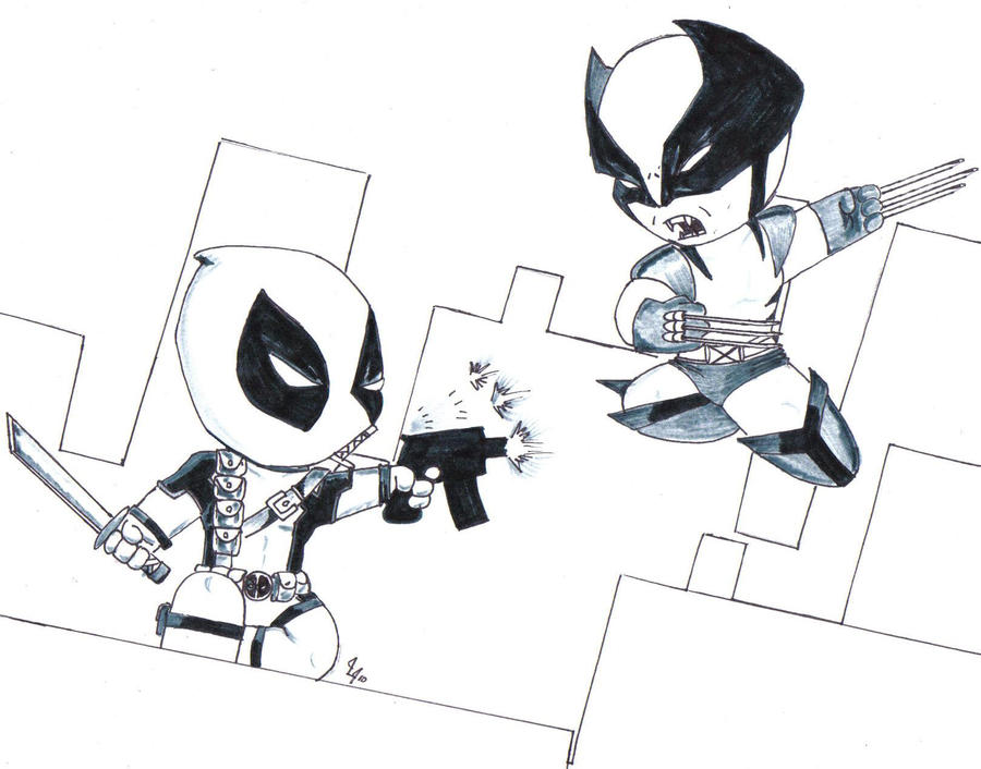 Deadpool Coloring Pages For Adults