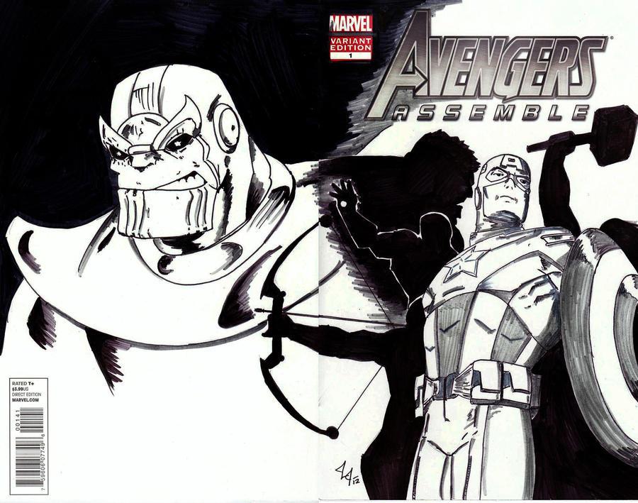 Avengers Assemble#1 sketch cvr by Jason-Lee-Johnson