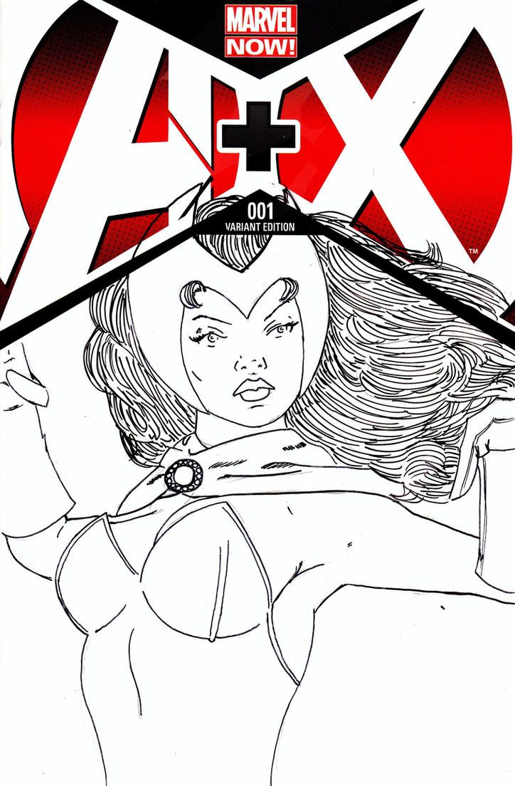 Scarlet witch -Sketch cover- by Jason-Lee-Johnson