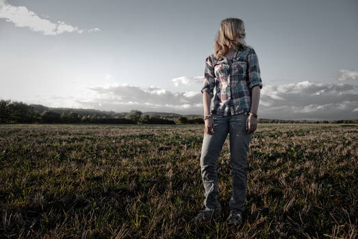 Sister and field