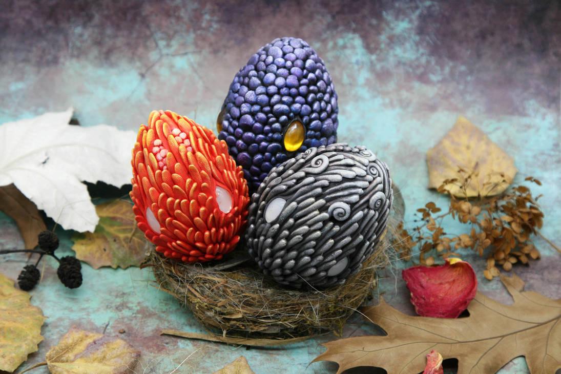 Dragon Eggs for Easter Basket by Atanata